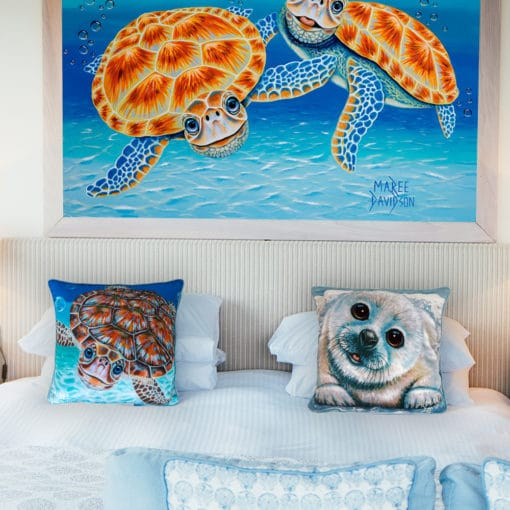 Bubbles and Just Chillin - Maree Davidson - Cushion Cover