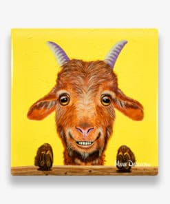 Buck the Goat - Ceramic Coaster - Maree Davidson