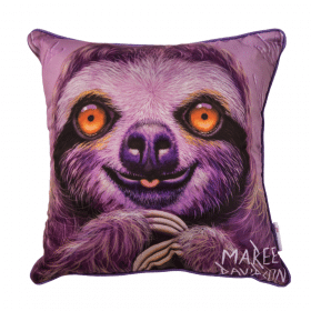 CLAUDE THE SLOTH - CUSHION COVER - MAREE DAVIDSON ART