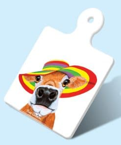 CUPCAKE THE COW-SQUARE TRIVETS-MAREE DAVIDSON