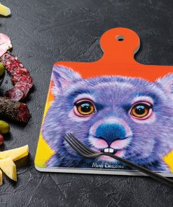 DIGGER THE WOMBAT - SQUARE TRIVETS WITH HANDLE-MAREE DAVIDSON ART