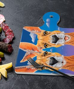 DON'T WORRY BE HOPPY - SQUARE TRIVETS WITH HANDLE-MAREE DAVIDSON ART