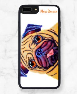Doug the Pug Black iPhone Case - Maree Davidson