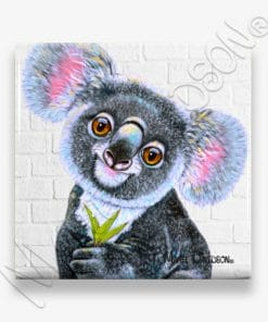 Drop Bear - Ceramic Coasters Multiple - Maree Davidson
