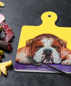 ENGLISH BULLDOG ANGEL-SQUARE TRIVETS-MAREE DAVIDSON ART