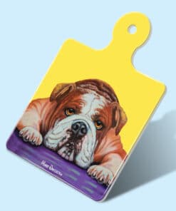 ENGLISH BULLDOG ANGEL SQUARE TRIVET