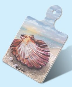 GIFTS OF THE SEA-SQUARE TRIVETS WITH HANDLE-MAREE DAVIDSON ART