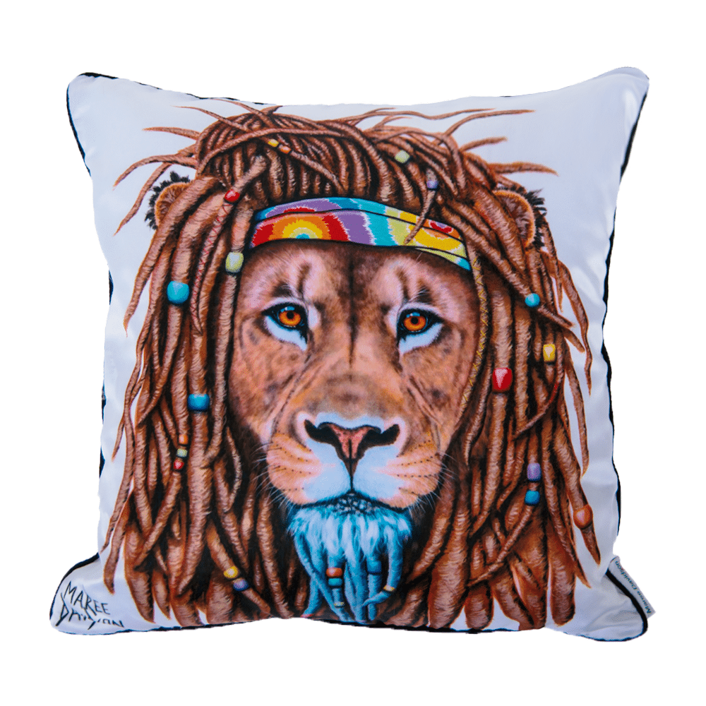HIPPY LION - CUSHION COVER - MAREE DAVIDSON ART