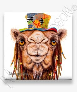 Hippie Camel- Ceramic Coaster - Maree Davidson