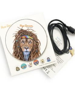 Hippie Lion - Phone Charger - Maree Davidson Art 2