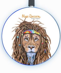 Hippie Lion - Phone Charger - Maree Davidson Art