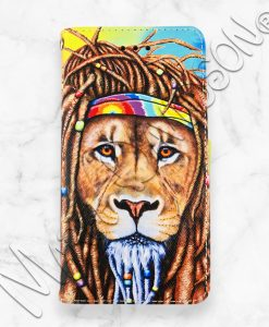 Hippie Lion iPhone Wallet Case Maree Davidson