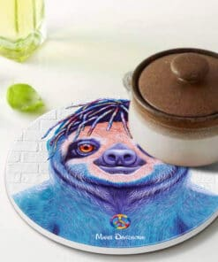 Hippie Sloth - Ceramic Trivets - Maree Davidson