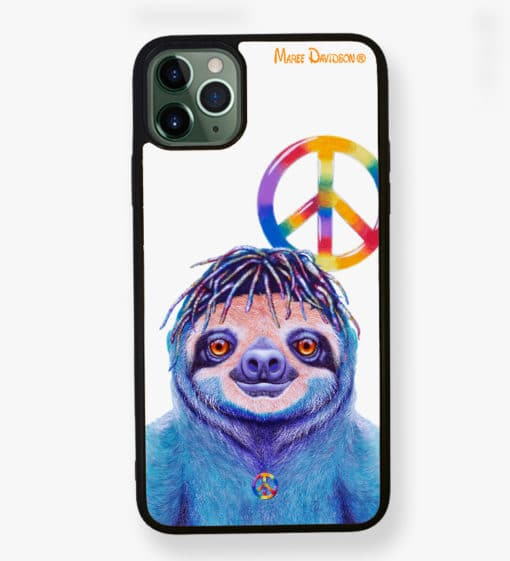 Hippie Sloth - Phone Case - Maree Davidson