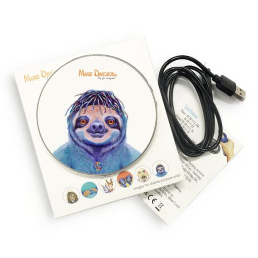 Hippie Sloth - Phone Charger - Maree Davidson Art 2