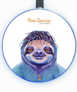 Hippie Sloth - Phone Charger - Maree Davidson Art