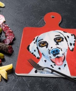 LUCKY THE DALMATION-SQUARE TRIVETS-MAREE DAVIDSON ART