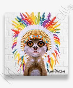 Little Chief - Ceramic Coaster - Maree Davidson