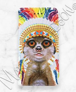 Little Chief Meerkat iPhone Wallet Case Maree Davidson