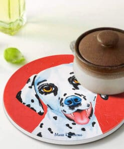 Lucky the Dalmation - Ceramic Trivets - Maree Davidson