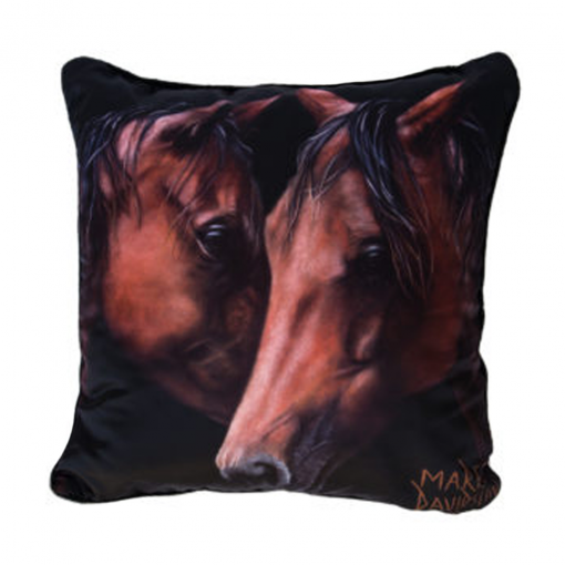 MOON LIGHT WIHISPERS - HORSES - CUSHION COVER - MAREE DAVIDSON ART