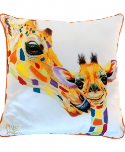 MY MUM - RAINBOW GIRAFFE - CUSHION COVER- MAREE DAVIDSON ART