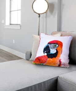 Macaw Red- Maree Davidson - Cushion Cover