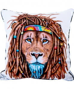 HIPPIE LION CUSHION COVER