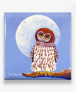 Once in A Blue Moon - Ceramic Coaster - Maree Davidson