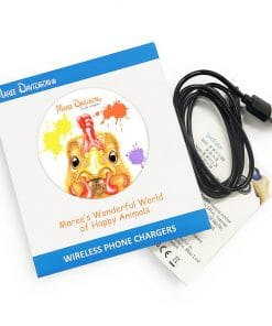 PENNY THE YELLOW CHICKEN-WIRELESS CHARGER-MAREE DAVIDSON ART