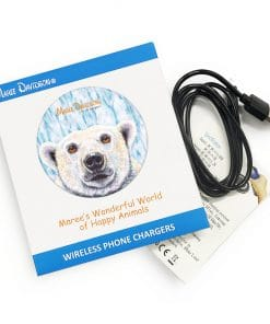 PIERRE THE POLAR BEAR-WIRELESS CHARGER-MAREE DAVIDSON ART