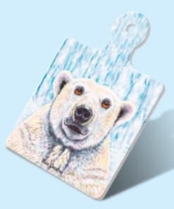 PIERRE THE POLAR BEAR SQUARE TRIVET