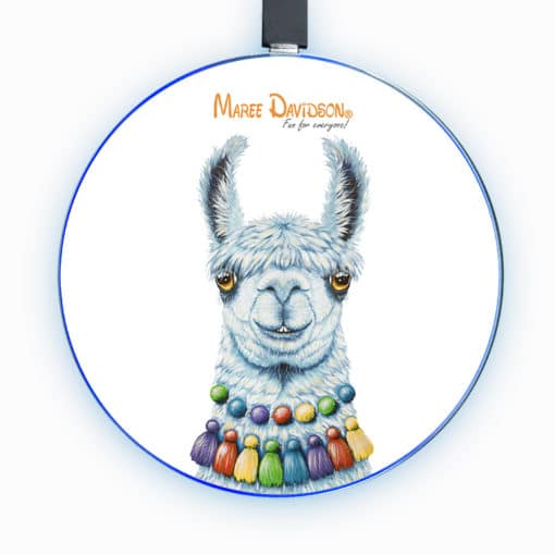 Pablo the Llama - Phone Charger - Maree Davidson Art