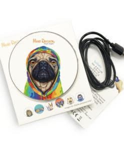 Pug 4 Life - Phone Charger - Maree Davidson Art 2