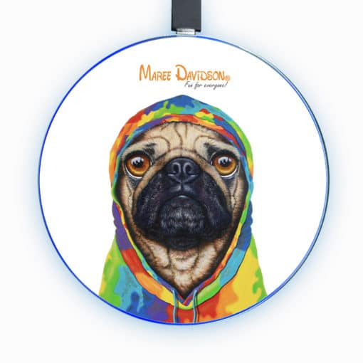 Pug 4 Life - Phone Charger - Maree Davidson Art