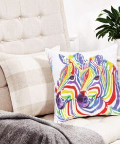Rainbow Zebra- Maree Davidson - Cushion Cover