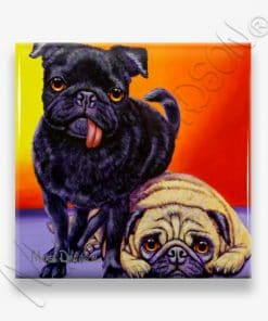 Sunny and Budda - Ceramic Coaster - Maree Davidson