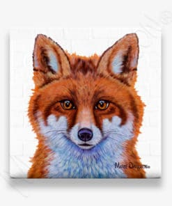 SWIFT THE LITTLE RED FOX - CERAMIC COASTER