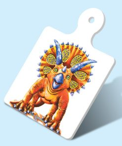 TOPPA THE TRICERATOPS- SQUARE TRIVETS WITH HANDLE-MAREE DAVIDSON ART