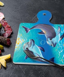 TWO DOLPHINS-SQUARE TRIVETS-MAREE DAVIDSON ART