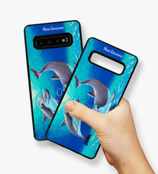 Two Dolphins - Samsung Phone Case - Maree Davidson 2