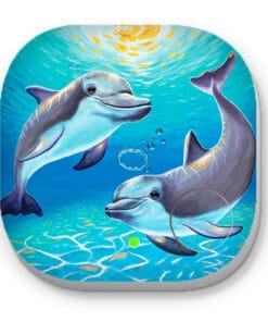 Two dolphins - PHONE AND KEY FINDER - MAREE DAVIDSON ART