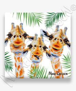 You Make Me Smile Giraffe Maree Davidson Art Ceramic Coaster