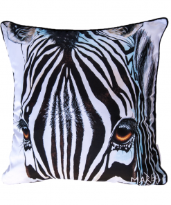 ARBEZ THE ZEBRA - CUSHION COVER - MAREE DAVIDSON ART