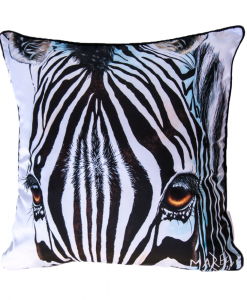 ZEBRA - CUSHION COVER- MAREE DAVIDSON ART