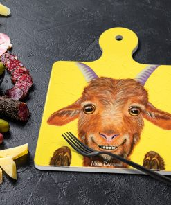 BUCK THE GOAT - SQUARE TRIVETS WITH HANDLE-MAREE DAVIDSON ART