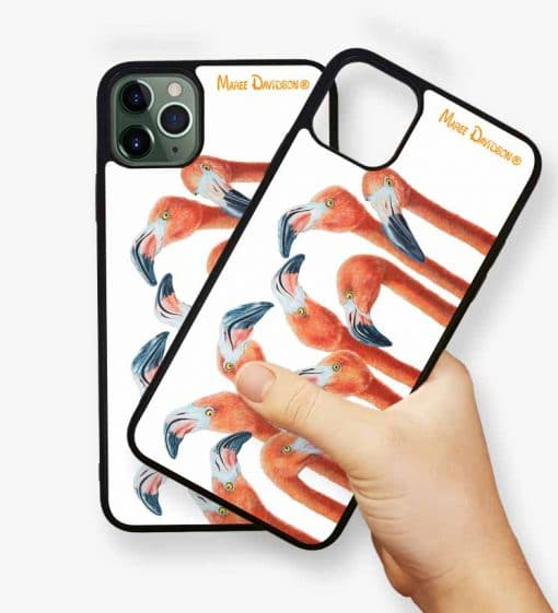 GROUP CHAT FLAMINGOS-IPHONE CASE COVER-MAREE DAVIDSON
