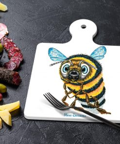 BEVAN THE BUMBLEBEE-SQUARE TRIVETS WITH HANDLE-MAREE DAVIDSON ART
