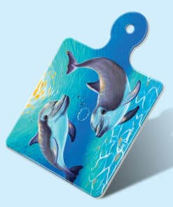 TWO_DOLPHINS SQUARE TRIVET